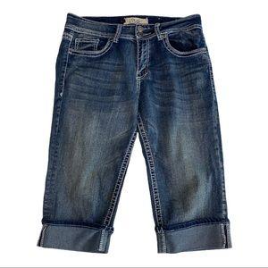 VGS Women's Capri Length Cuffed Jeans Size 8